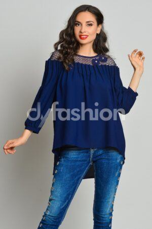 Bluza Mira din Voal BleumarinBluze
