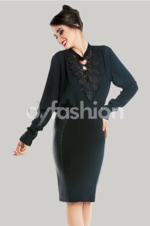 Bluza Serenity Neagra cu DantelaBluze