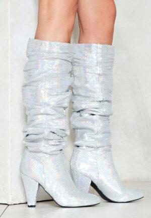 Cizme cu toc Silver Quin ArgintiiCizme cu toc