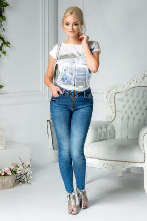 Jeans Troia casual albastriBlugi