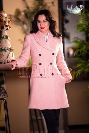 Palton dama lana roz pal prafuitPALTOANE si GECI