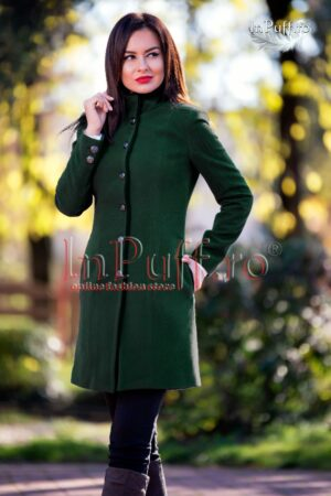 Palton dama verde inchisPALTOANE si GECI