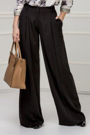 Pantalon Brise negru evazatPantaloniNegru