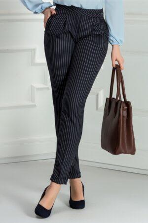 Pantalon Dalia bleumarin in dungi officePantaloniBleumarin