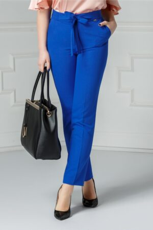 Pantalon Moze Relinda albastru officePantaloniAlbastru