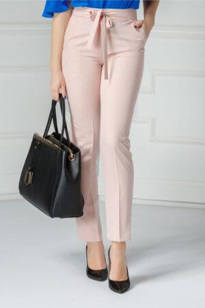 Pantalon Moze Relinda roz praf officePantaloniRoz