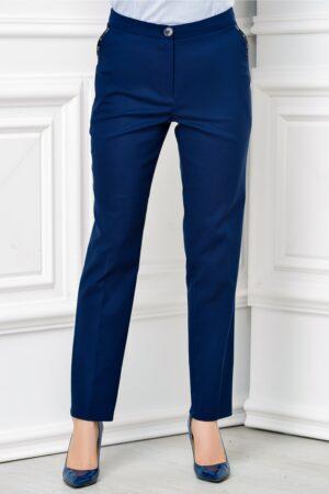 Pantalon Moze office slim bleumarinPantaloniBleumarin