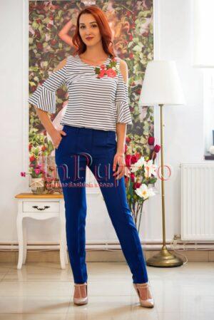 Pantaloni de dama albastru inchisPANTALONI  COLANTI
