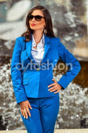 Sacou Anastasia Albastru Office de ZiSacouri