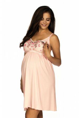 Camasa de noapte roz pentru gravide