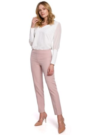 Pantaloni roz casual de dama