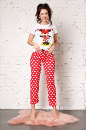 Pijama cu Minnie Mouse si buline