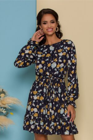 Rochie  cu imprimeuri in nuante tomnatice