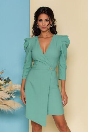 Rochie  verde mint cu aspect petrecut