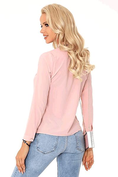 bluza roz cu nasturi