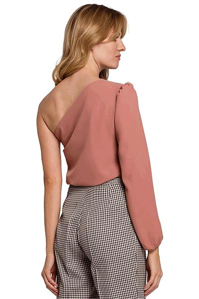 bluza roz fara maneca
