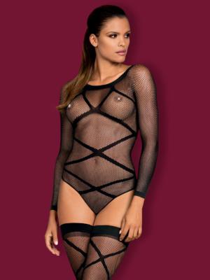 Catsuit / Body Stockings G320 - Negru S/l