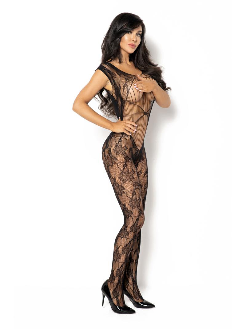 Catsuit / Body Stockings Kiara - Negru S/l