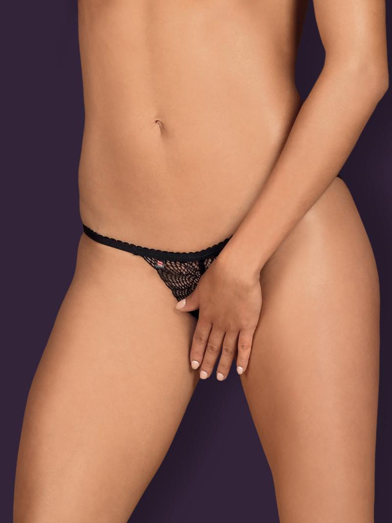Chilot Sexy Chiccanta Crotchless - Negru L/xl S-m