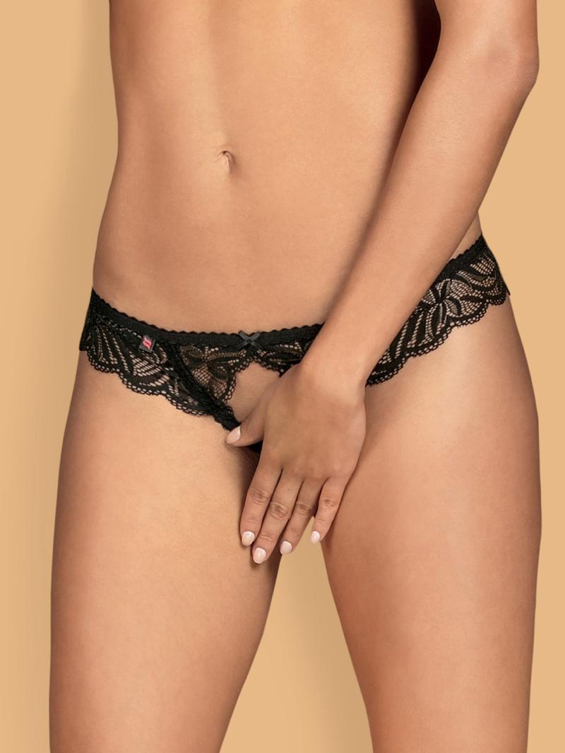 Chilot Sexy Contica Crotchless - Negru L/xl S-m