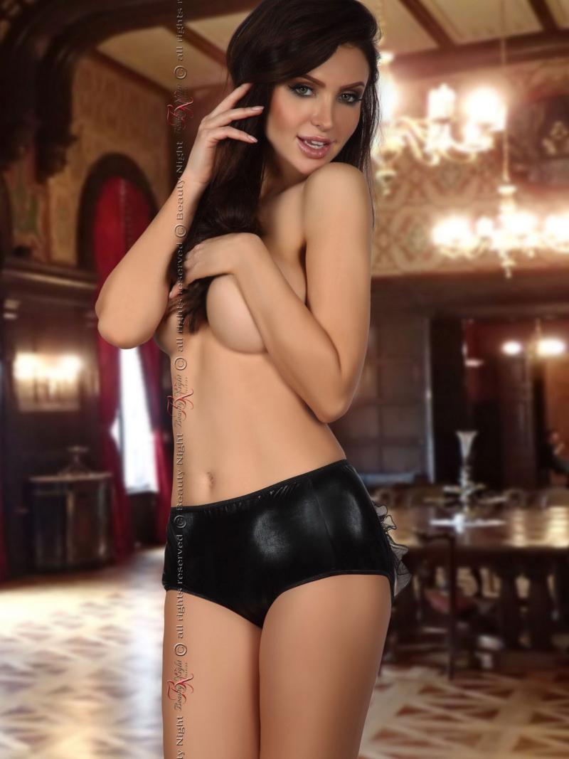 Chilot Sexy Doris Metalic - Negru L/xl S-m