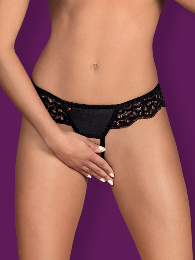 Chilot Sexy Laluna Crotchless Panties - Negru L/xl S-m