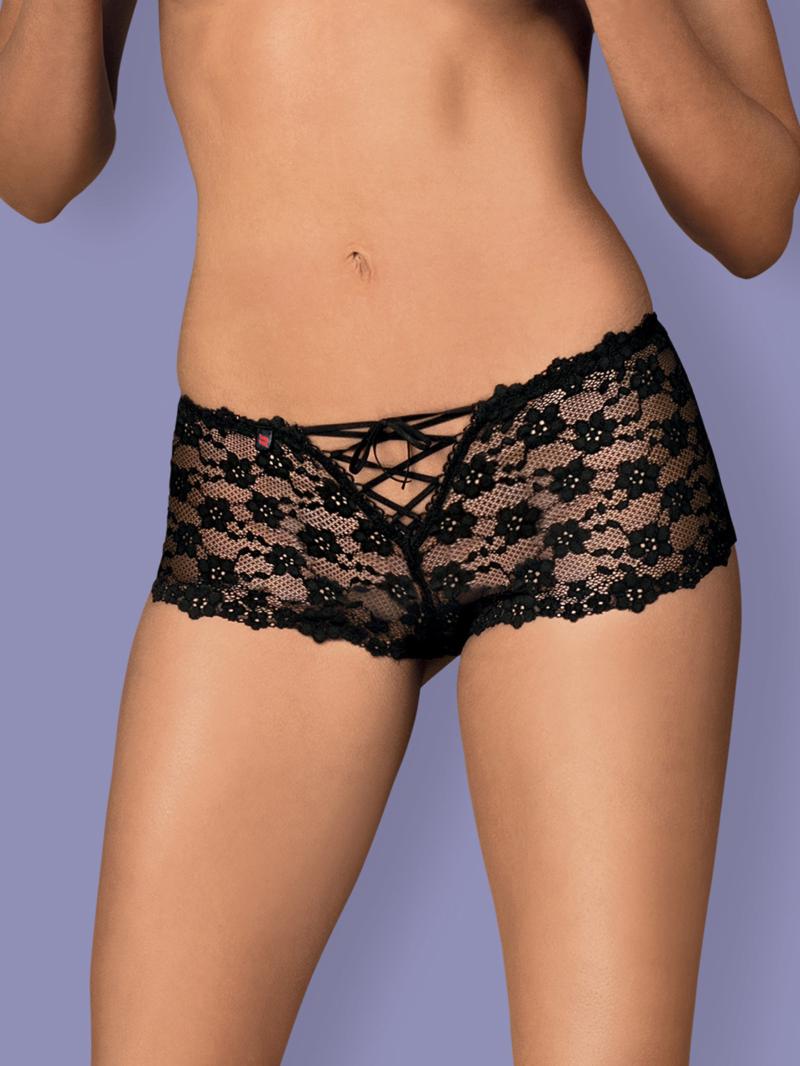 Chilot Sexy Letica Shorties - Negru L/xl S-m