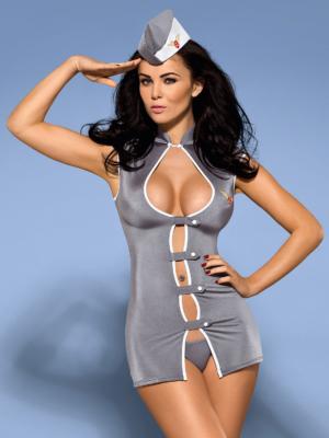 Costum Sexy Stewardess - Gri L/xl S-m
